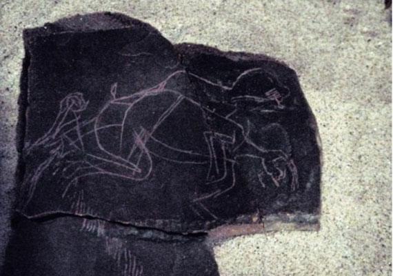 A franciaországi La Marche-nál elhelyezkedő barlangból került elő ez a pikáns jelenet.