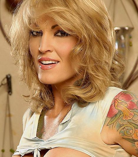 Janine LindemulderJanine vitathatatlanul az egyik leggyönyörűbb nő, aki valaha szexelt a kamerák előtt. A tetoválásokkal díszített hölgy azonban egy röpke pillanatra a zenei pályát is kipróbálta, legalábbis képekben, ugyanis a Blink 182 egyik albumának címlapján szexi nővérkeként pózol.