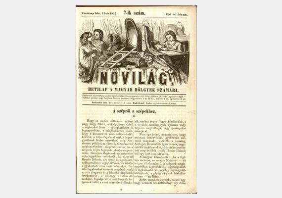 Nem sokkal később született a Nővilág című hetilap, mely 1857 és 1864 között jelent meg. Főleg divattal foglalkozott, olvasói szabásminta-melléklettel is gazdagodtak.