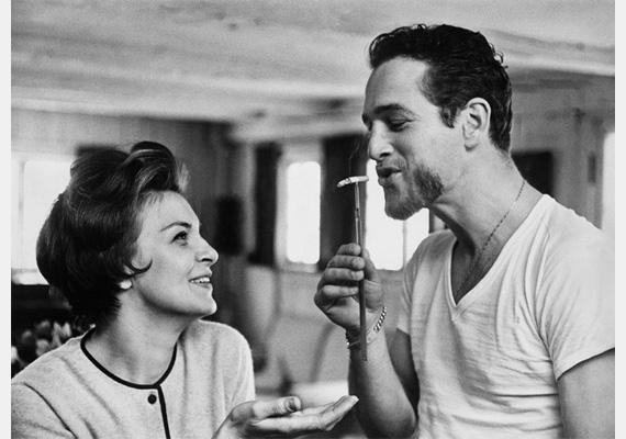 Paul Newman és Joanne Woodward.Fotó: Philippe Halsman