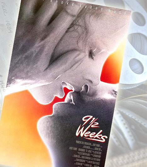 9 és ½ hét - 1986A meglehetősen erotikus filmben Mickey Rourke még szétszabatlan ábrázattal látható. A legemlékezetesebb pillanat azonban vitathatatlanul az, amikor Kim Basinger a diafilmek láttán kénytelen a bugyijába nyúlni, nem kevés férfi nézőnek szerezve ezzel örömet.