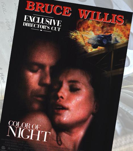 Az éj színe - 1994A meglehetősen szabados hollywoodi produkcióban Bruce Willis dublőr nélkül szeretkezik: nem csak őt elégítik ki orálisan, de az erotikus thriller egyik legemlékezetesebb jelenetében ő szerez örömet Jane Marchnak a víz alatt.Kapcsolódó galéria:Bruce Willis élete képekben »