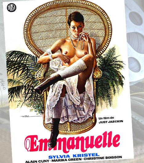 Emmanuelle - 1974Amikor a pornófilmeket kitiltják a mozikból, a piaci űrt az Emmanuelle szoftpornó tölti be. Bár ami a nemiséget illeti, kevésbé szabados, mint az átlagos pornók, nem éppen filmművészeti értékei miatt érdemel helyet a legemlékezetesebb szexfilmek között. Sokkal inkább Sylvia Kristel igényes bujasága teszi emlékezetessé.Kapcsolódó cikk:4 szemérmetlenül erotikus botrányfilm »