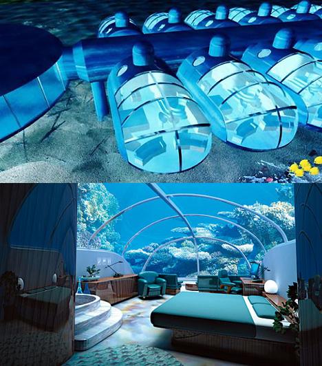 Poseidon Undersea Resorts - FujiA korallzátonyok közé ágyazott tenger alatti szállóba 2009 szeptember 15-óta lehet szobát foglalni. Szerelmesek számára kihagyhatatlan hely, hiszen a delfinek és csodálatosan tarka tengeri halak társaságában átélt gyönyör egy életre szóló emlék lehet.