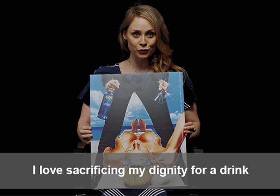 Imádom feláldozni a méltóságom egy italért.