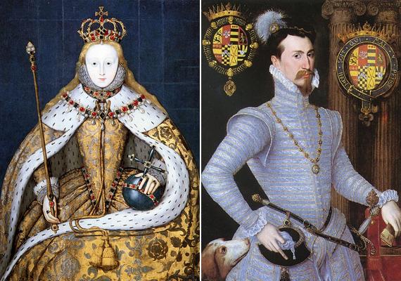 Így ábrázolták őket a hajdani festményeken. Közös portré nem készült róluk.