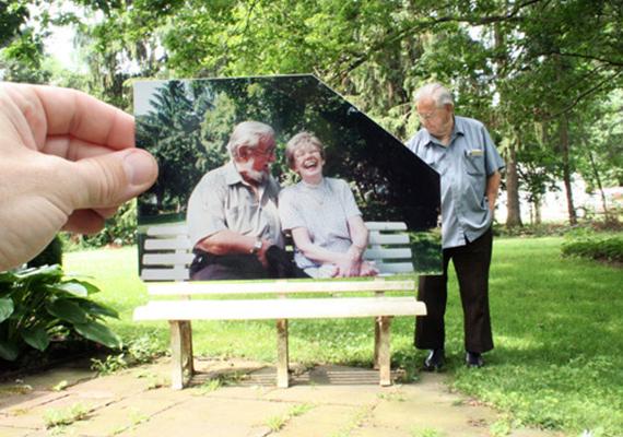 A képet Jonathan Stampf készítette a szüleiről, ezzel a felirattal: köszönök mindent, amit kell.