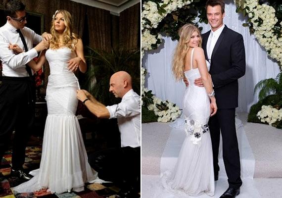 Josh Duhamel 2009-ben vette feleségül Fergie-t, akinek ruháját a Dolce & Gabbana jegyzi.