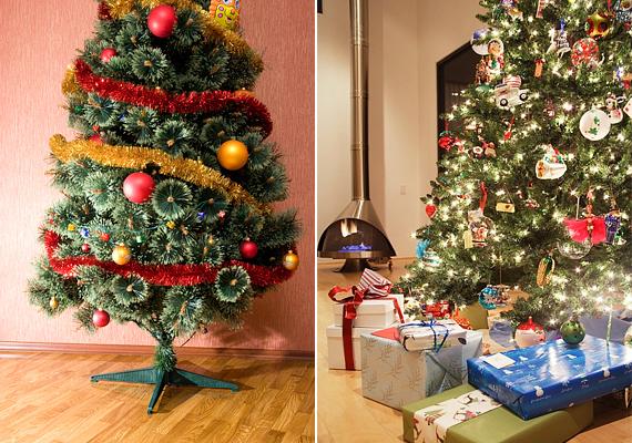 Sokszor minél zsúfoltabb egy karácsonyfa, annál szebb. Ne riadj vissza a díszek hadseregétől.