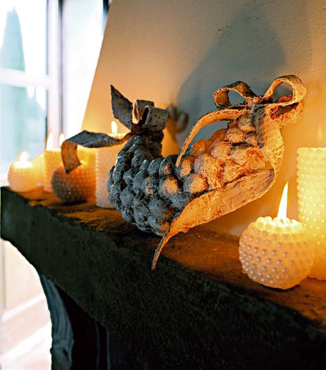 Arany lángolás  Az aranyat a gyertya lángjával is a lakásba csempészheted. Válassz fehér vagy natúr színű gyertyát. Jó sokat, és rakd tele velük a lakást.
