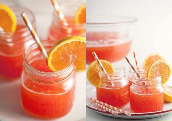 Narancsos-gyömbérsörös bólé4 liter gyömbérsört keverj össze 1/2 l ananászlével és 1/2 l narancslével. Ha nagyon savanyúnak ítéled, adj hozzá egy kevés cukrot, majd alaposan keverd össze, és töltsd egy nagy tálba. Ízlés szerint narancskarikával a tetején tálald.
