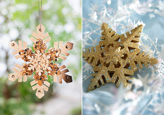 Számtalan kézzel készített hópehelydísszel lehet találkozni az ünnepi vásárokban, amelyek a legkülönbözőbb anyagokból készülnek, például parafából is.