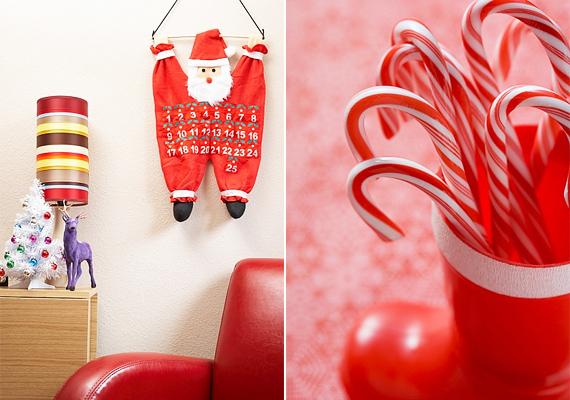 Praktikus szempontból is megközelítheted a Mikulás-figurát, adventi naptárat vagy akár cukorkatartót is készíthetsz öltözékéből.
