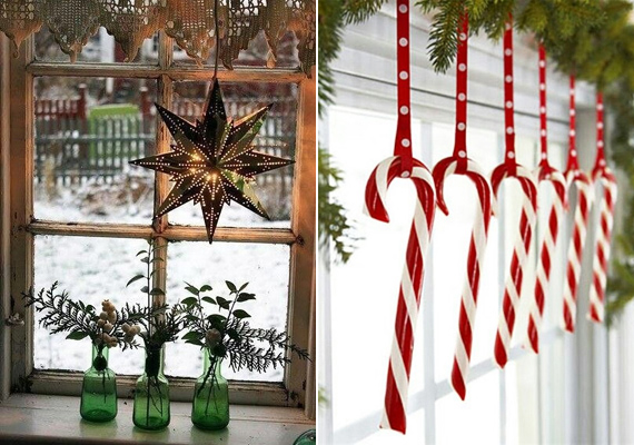 Jól fest, ha valamilyen karácsonyi motívumot lógatsz le az ablak előtt.