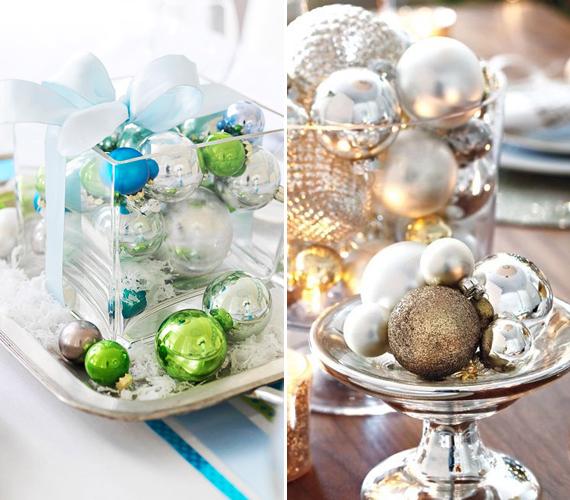 Egy sima üvegtálba vagy kínálótálra gömböket tenni nem nagy kunszt, viszont annál látványosabb.