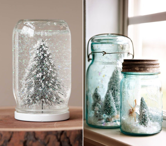 A hógömb készítése üres üvegből szintén nagyon szép díszt eredményezhet. Korábban már bemutattuk, hogyan tudod ezt házilag kivitelezni, kattints ide régi cikkünkért.