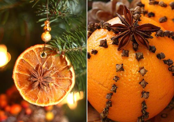 A csillagánizst leginkább naranccsal érdemes párosítani, a kettő aromája ugyanis igazi karácsonyi hangulatot teremt. Egy cseppnyi ragasztóval rögzítsd a fűszert a gyümölcsre.