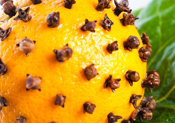 A legrégebbi, egyszersmind legkedveltebb illatos dísz a szegfűszeggel dekorált narancs. Igazi klasszikus, tipikus ünnepi illatfelhővel.