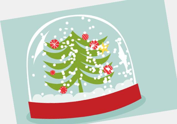 Ha alaposan megrázod a hógömböt, a hóesés alatt kívánhatsz valami titkosat. A képeslapot itt találod. »