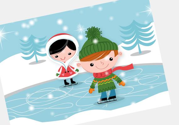 Korcsolyázni nagyon jó! Ha a Mikulás manóinak akad szabadideje, ők is szívesen űzik a jeges sportágat. A képeslapot itt találod. »