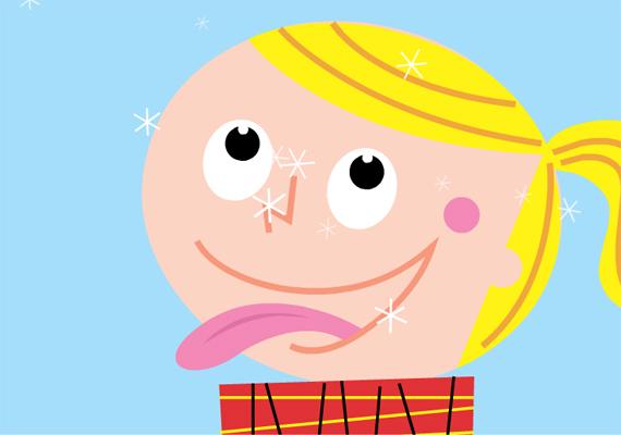 Te is próbáltad már a nyelveddel elkapni a hulló hópelyheket? Itt találod a képeslapot.
