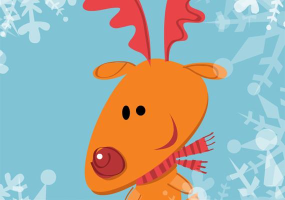 Rudolf ma éjszaka hozzád is beköszön, csak ne felejts el kinézni a párás ablakon. Itt találod a képeslapot.