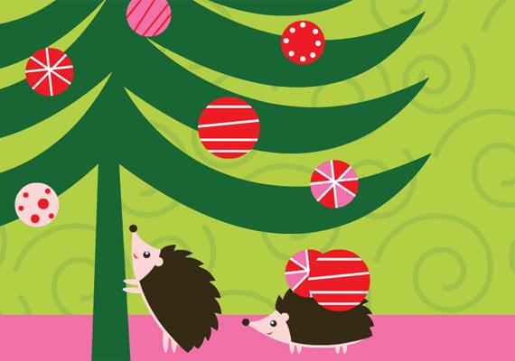 Gondoltál már rá, hogy segítséget kérj a karácsonyfa feldíszítéséhez? Akárcsak egy mesében. Itt találod a képeslapot.