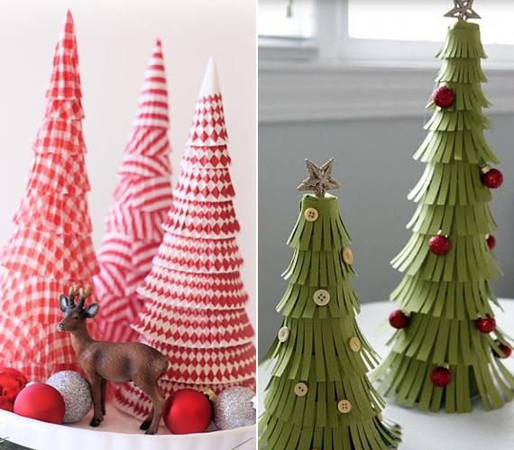 Az egyre kisebb és kisebb méretű muffinpapírok feltornyozásából csodás karácsonyfa készíthető. Még csak különösebb kézügyesség sem kell hozzá.