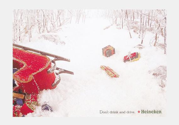 Kedves Mikulás, döntse el: iszik vagy vezet! A Heineken szerint jobb, ha a kettőt együtt nem teszi.