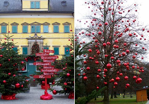 A közeli Hellbrunnban szintén tartanak adventi vásárt. A kastély előtt felállított parkban mindig ügyelnek arra, hogy a több tucat karácsonyfa ugyanolyan dekorációban pompázzon.