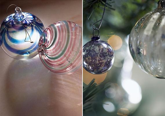 A tömör üveggömbök nagyon nehezek, így célszerű erős ágra kötni őket.