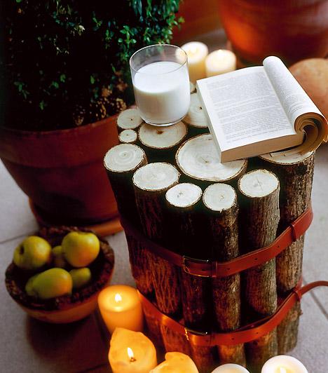 Lazításhoz  Akár erkélyeden is meghitt ünnepi hangulatot teremthetsz - borítsd be gyertyákkal és termésekkel a kövezetet. Relaxációhoz tökéletes.
