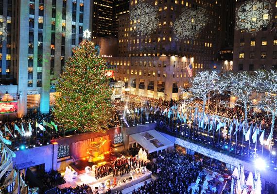 Az amerikai Rockefeller Center előtt felállított fák közül egy norvég fenyő volt a legmagasabb, a maga 22 méterével. Az élő növényt 30 ezer égő díszítette.