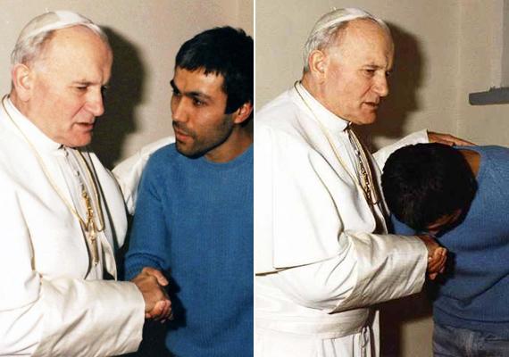 1983-ban maga látogatott el Ali Agcához a börtönbe, és megbocsátott neki. Sőt, mi több, évekig harcolt azért, hogy a férfi kegyelmet kapjon, és kiengedjék a börtönből. 2000-ben sikerült elérnie, hogy Agca távozhasson a rácsok mögül.