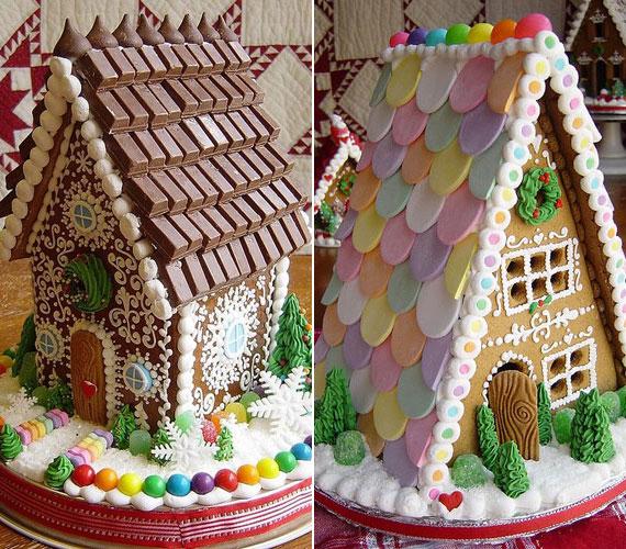 Az alapanyagok nyújtotta gazdag lehetőségeket használták ki a készítők: csokoládédarabokkal és színes cukorkákkal borították a tetőt. A házfalak díszítésére sem sajnálták az időt, ugyanis aprólékosan kidolgozott mintákkal dekoráltak.