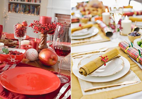 Ha mégis inkább az egyszerűségre törekednél, akkor használj magyalágakat a díszítéshez. Az aranyat és a pirosat nagyon jól kiemeli a bogyós növény.