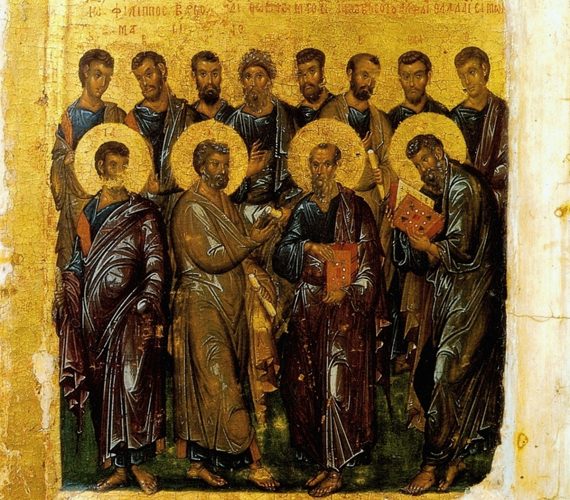 Szent András testvérével, Péterrel együtt csatlakozott Jézushoz, Péter később az egyház feje lett. Önként hagyott fel a halászélettel, sőt, ő vitte el Krisztushoz a testvérét.
