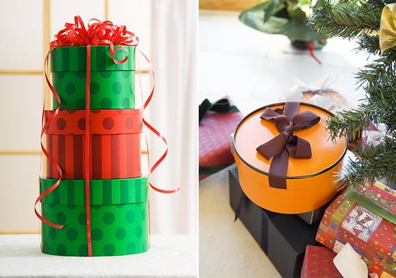 Formabontó és egyedi lehetsz, ha a szokásos négyszögletes vagy éppen forma nélküli csomagok helyett kör alakú dobozokat használsz.