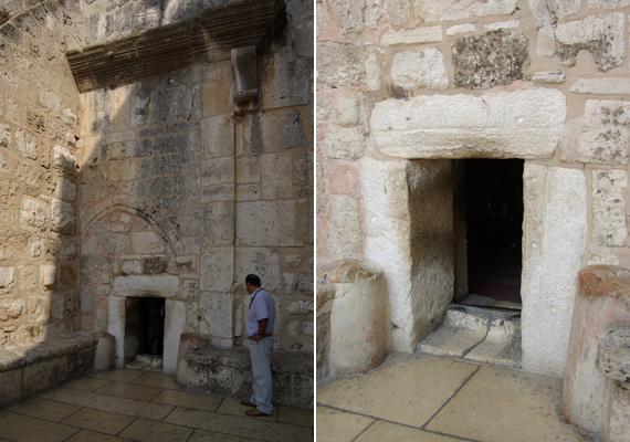 Az Alázatosság barlangjának ajtaján keresztülbújva lehet bejutni a különleges templomba.