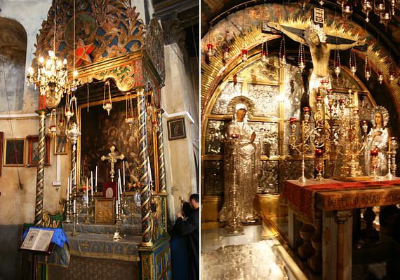 Az oltárok mind szépen, aprólékosan megmunkáltak, egy-egy jelenetet ábrázolnak a szent család életéből.