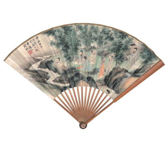 Pu Xuezhai: A Bambuszliget hét bölcseA Bambuszliget bölcsei a 3. században élt jeles írástudók egy csoportja, akik a politikától és az állami szolgálattól távol maradtak. Elvonultan éltek, taoista témákról beszélgettek, a költészetet és a zenét művelték.