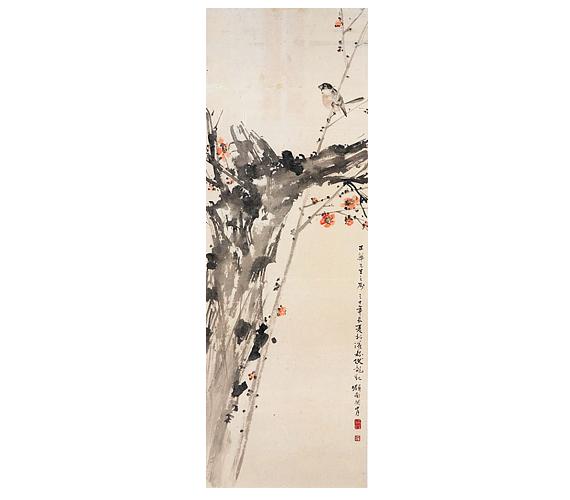 Guan Shanyue: Virágzó szilvafaA virágzó szilvafaág a kínai festők kedvelt témája - önmagában és madárral együtt is. A tavasz előhírnöke, az érintetlenség, szűziesség jelképe.