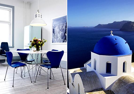 Az először 1896-ban publikált amerikai lakberendezési magazin, a szakmában mérvadónak számító House Beautiful összeállítása szerint - melynek elkészítéséhez számos dizájner és lakberendező véleményét figyelembe vették - a 2015-ös év egyik meghatározó színe lehet a mediterrán, görög világból ismert, gazdag kék árnyalat, mely Santorini szigetének épületeit idézi.