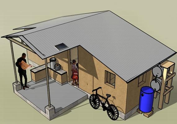 Az első helyezett ez a Patti Stouter által tervezett earthbag-ház lett. Ha tudni szeretnéd, pontosan mit takar az earthbag kifejezés, kattints ide, és nézd meg erről szóló cikkeinket!