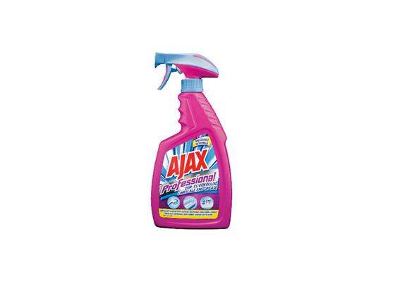 Az Ajax Professional zsír- és vízkőoldó mindkét típusú szennyeződéssel leszámol, emellett fertőtlenít is.