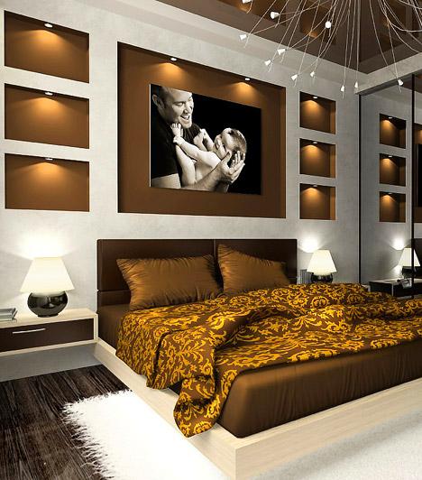Beépített világítás  Az ágy mögötti falba épített ledek luxussal töltik meg a szobát. Egy hálószoba esetében pedig az sem utolsó szempont, hogy a fő fényforrást lekapcsolva kellemes, romantikus félhomályt varázsolhatsz a helyiségbe.  Kapcsolódó cikk: Így tervezd meg a világítást »
