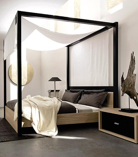 Romantikus baldachin  A baldachin nem csak a rózsaszín, királylányos szobák kiegészítője lehet. Ha a szoba berendezése egyébként egyszerű, letisztult, a baldachin akár a pároddal közös hálóba is romantikus hangulatot varázsolhat.