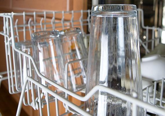 A mosogatógép éves fogyasztása az előbbi paramétereket figyelembe véve 120, illetve 325 kWh.