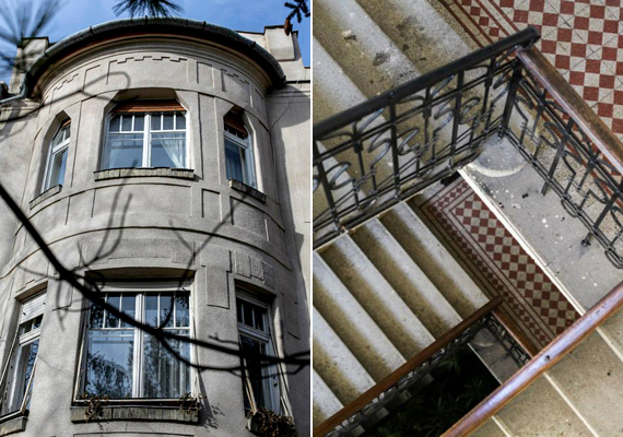 A II. kerületben található, Szemlőhegy utca 16. szám alatti ház. A fotókat Bartha Andrea készítette. Ha még több képet szeretnél megnézni, kattints a Budapest100 Facebook-oldalára vagy honlapjára.
