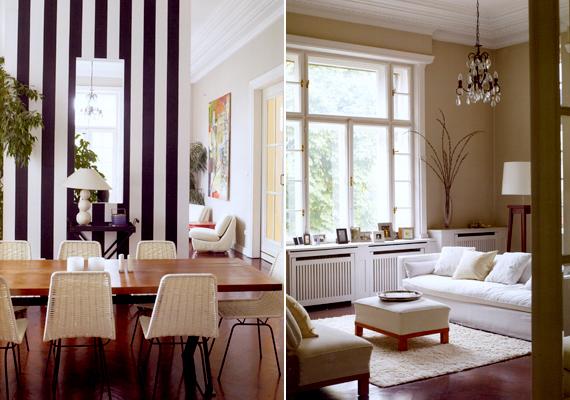 A sikeres producer, Jennifer Webster és Juhász Buday Zsolt építész otthona a városligeti villanegyedben található.